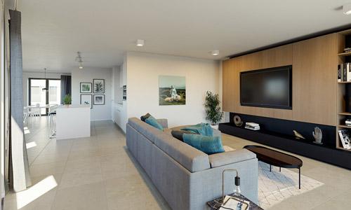 Appartement met 2 slaapkamers - interieur